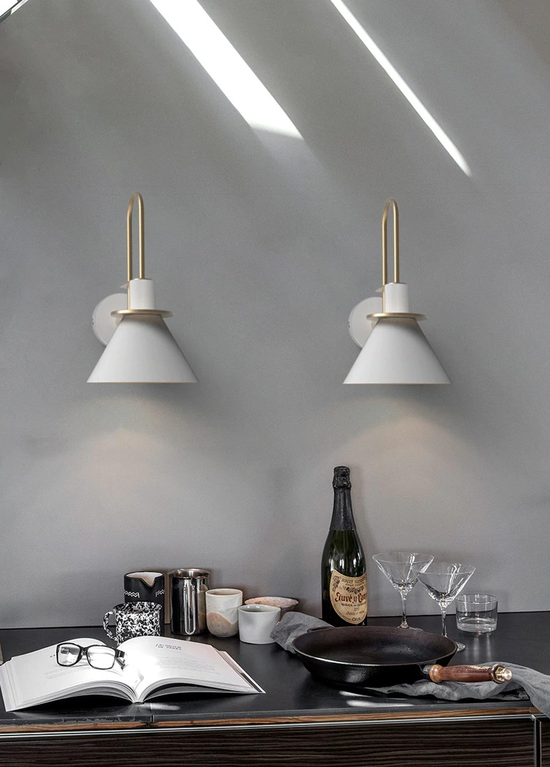 modern minimalist fali lámpa étkező