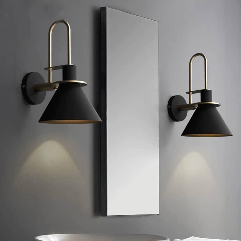 modern minimalist fali lámpa bathroom