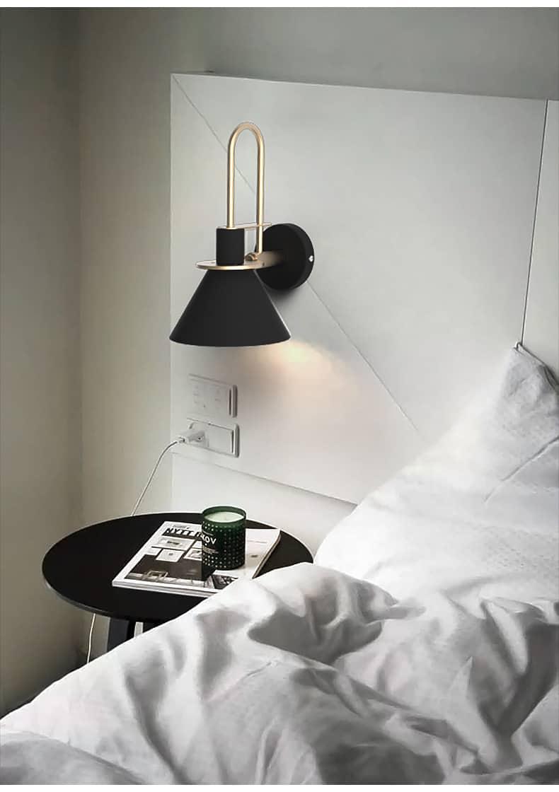 modern minimalist fali lámpa bed