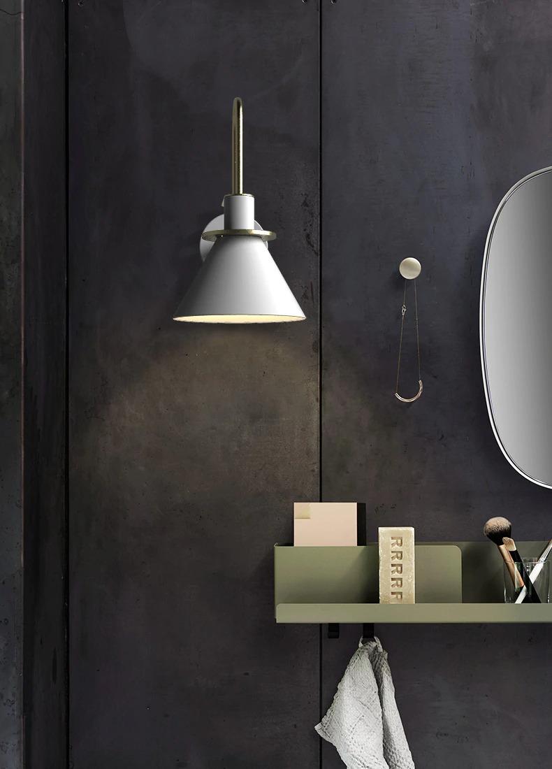 modern minimalist fali lámpa fürdő