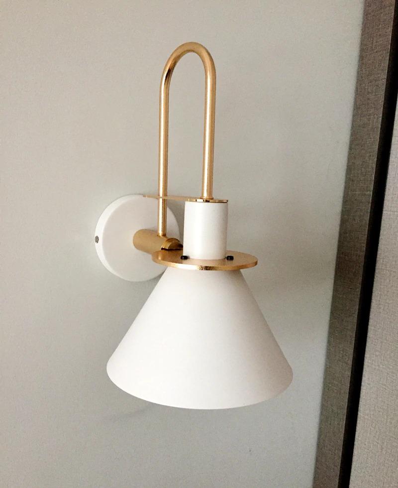 modern minimalist fali lámpa fehér 3