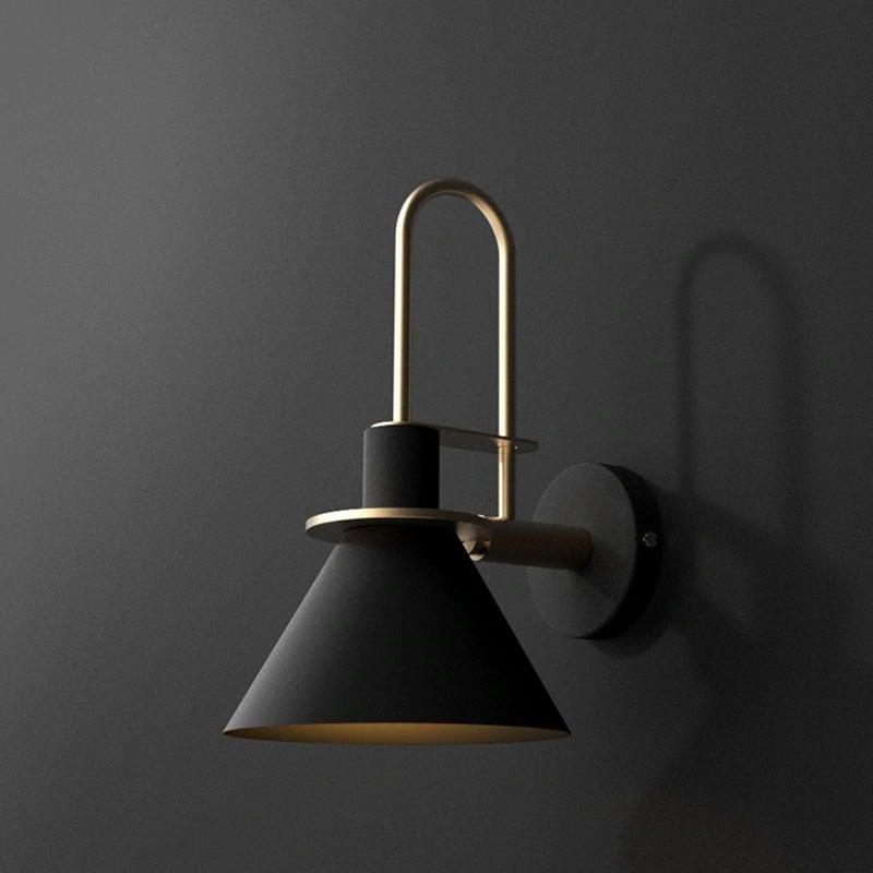 modern minimalist fali lámpa fekete 01