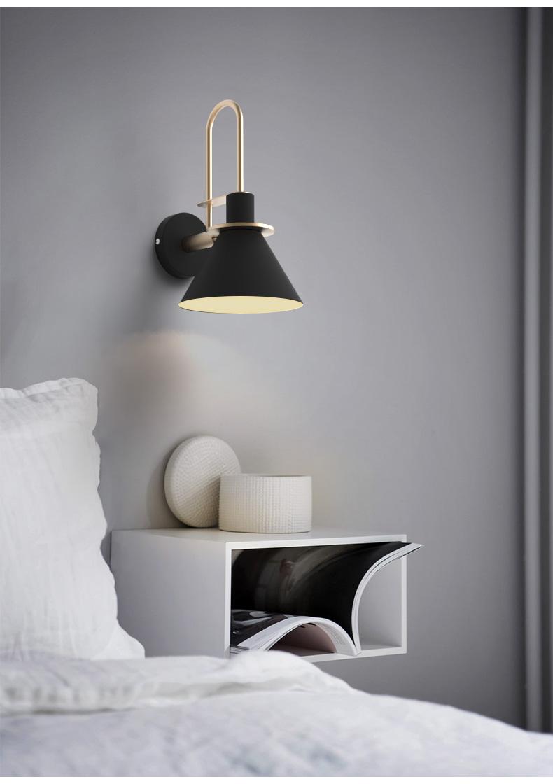 modern minimalist fali lámpa hálószobába