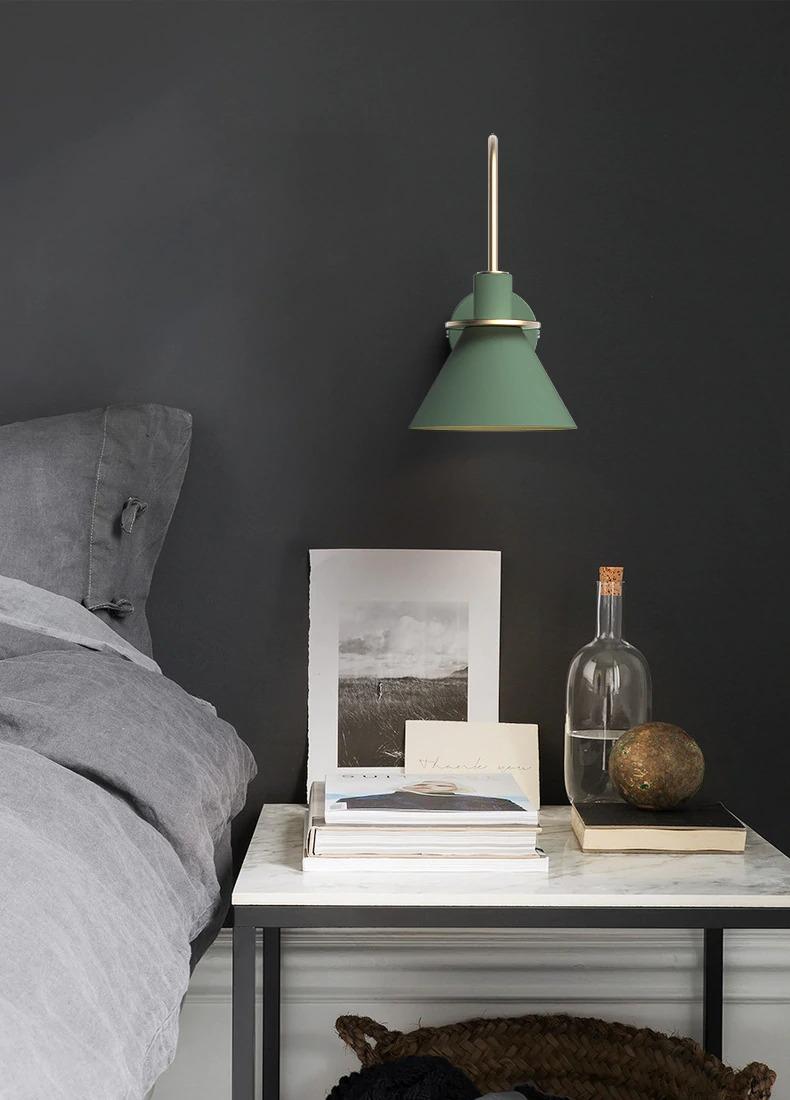 modern minimalist fali lámpa hálószoba