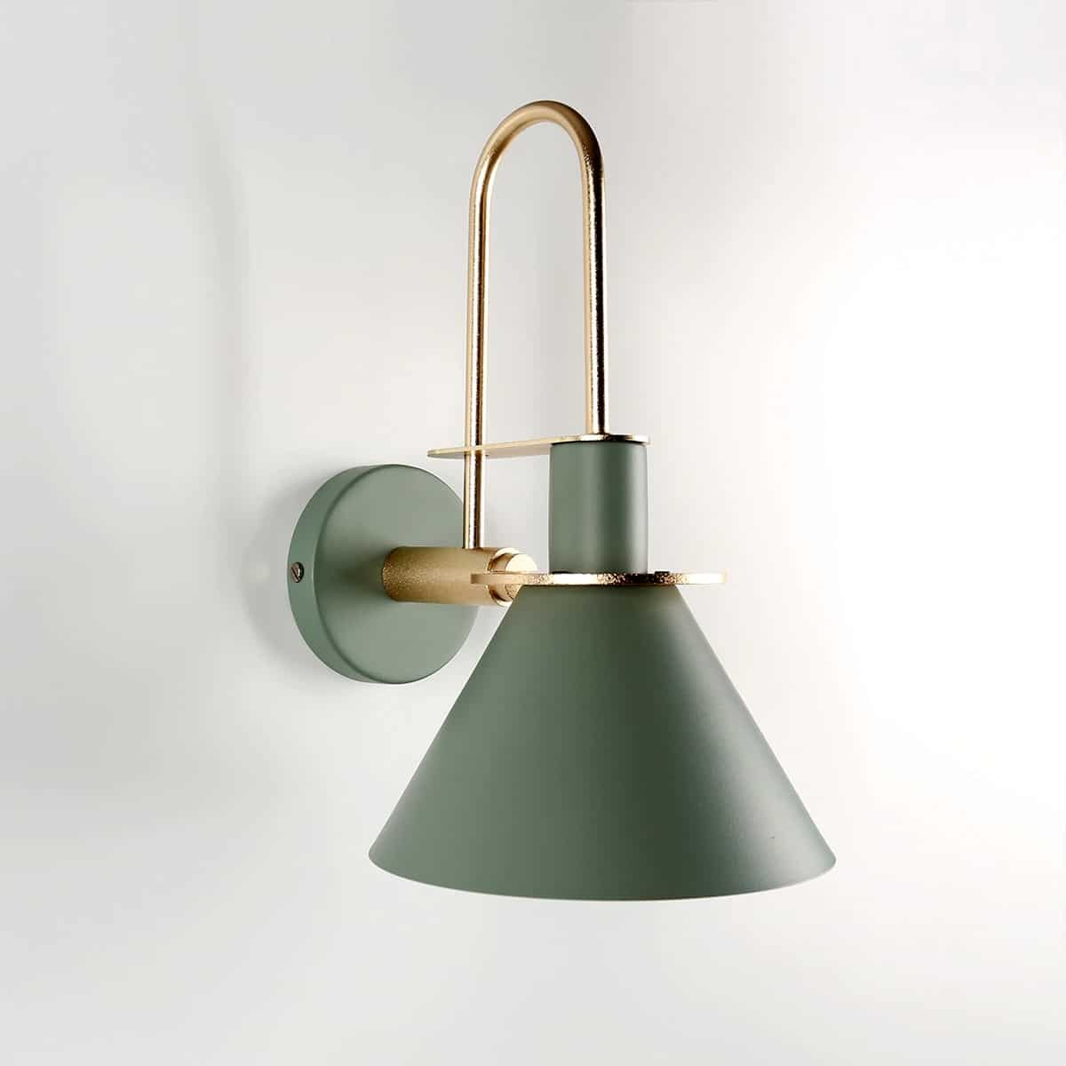 modern minimalist fali lámpa oliva zöld 04