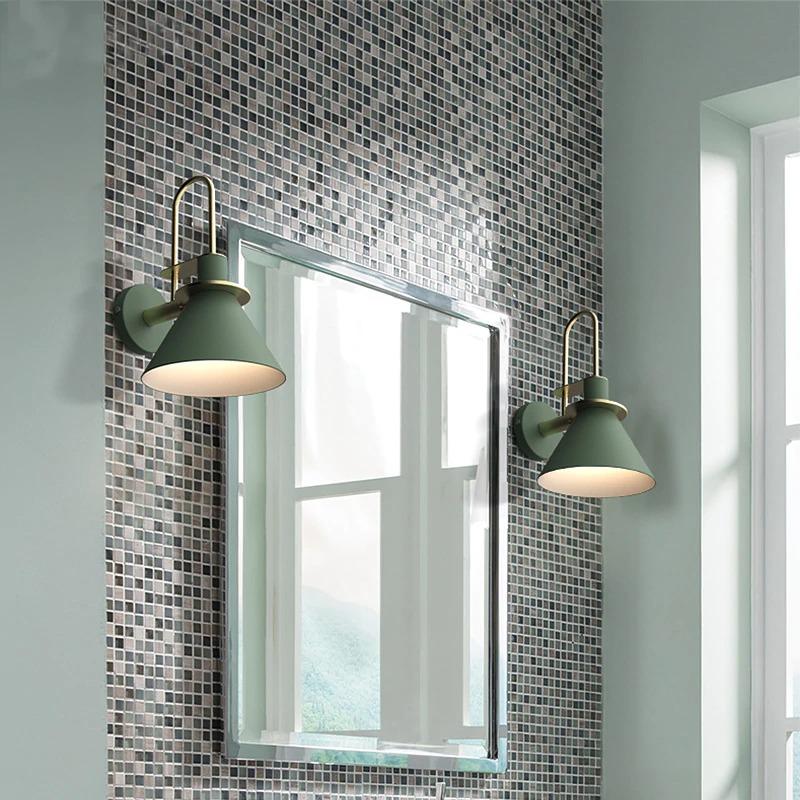 modern minimalist fali lámpa tükör