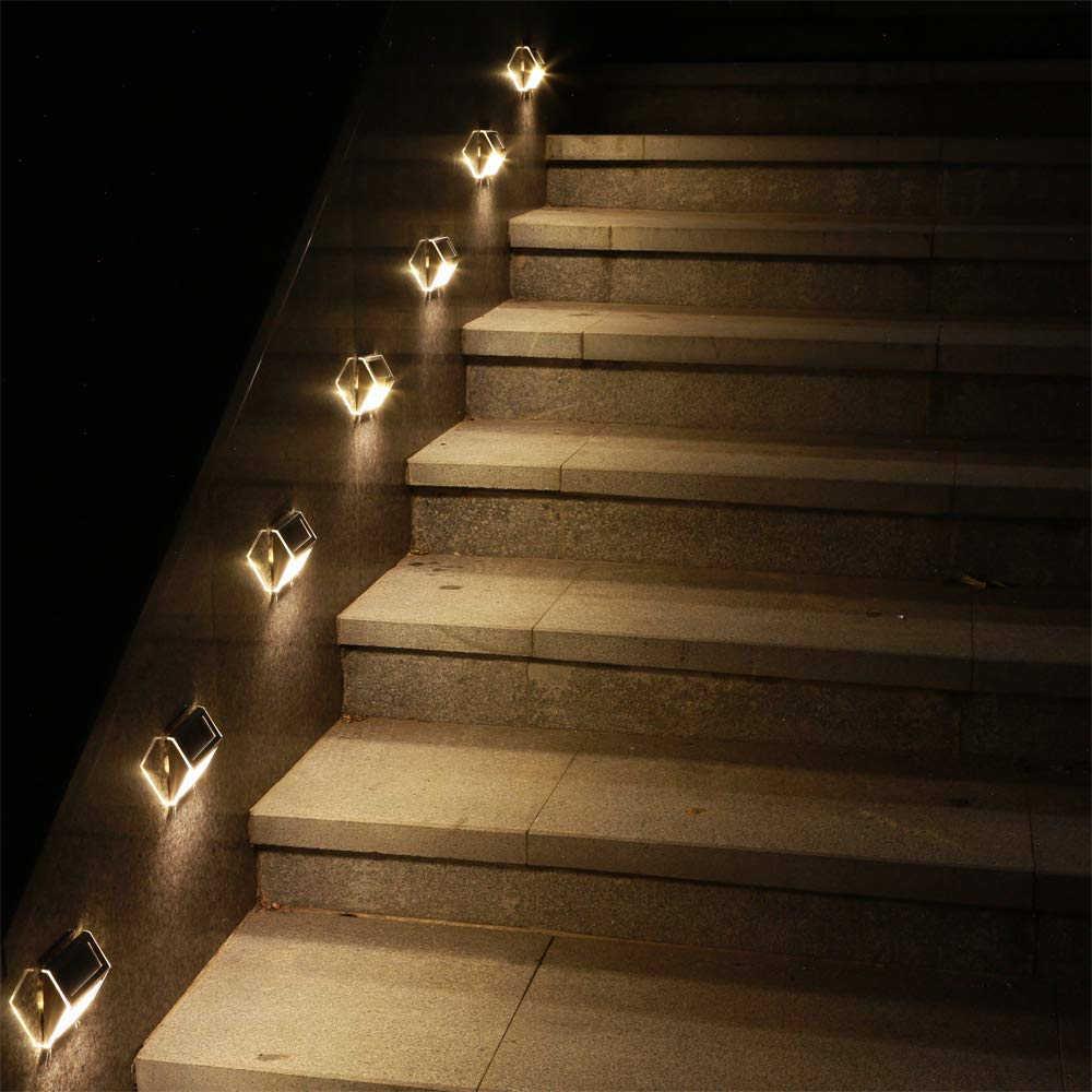 Steel kültéri napelemes LED lámpa 02