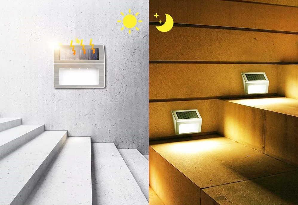 Steel kültéri napelemes LED lámpa 03