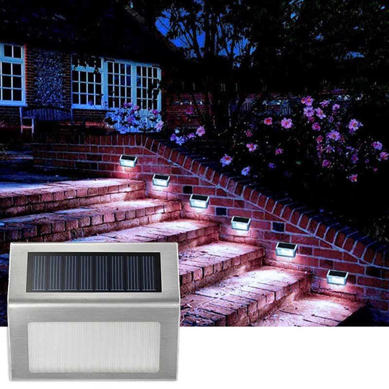 Steel kültéri napelemes LED lámpa lépcső 3
